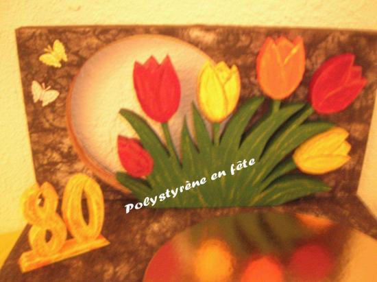 Détail du décor -  présentoir tulipes