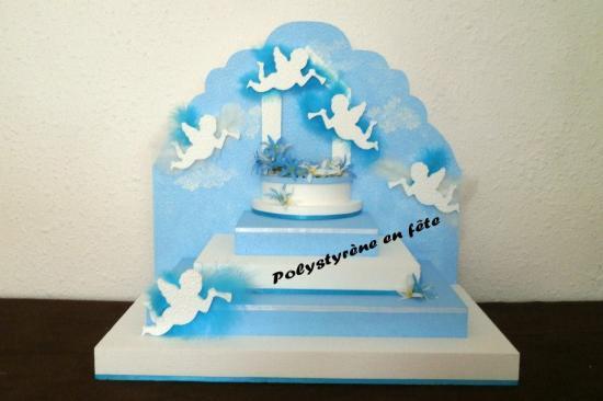 Présentoir ange et fontaine - 50/30 cm - 90,00 E