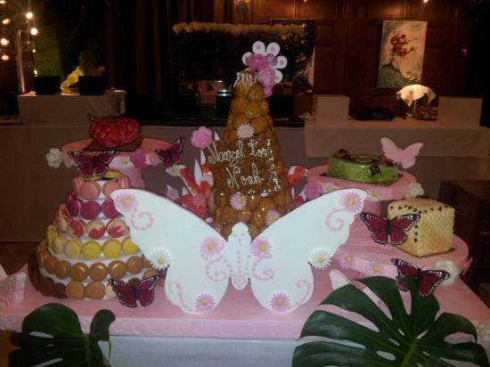 présentoir papillon + pyramide