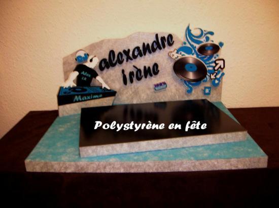 Présentoir DJ Turquoise décoré - 140,00 E