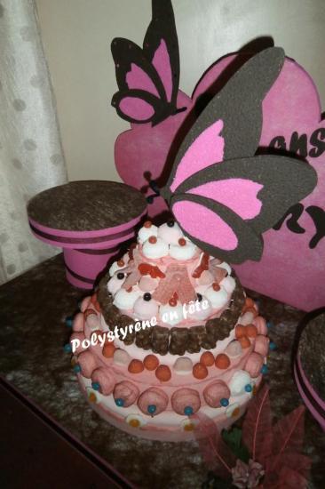 Gâteau de bonbons papillon