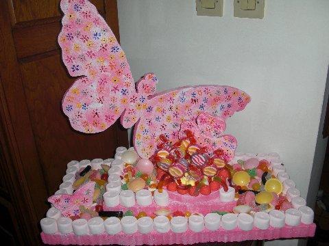 présentoir rectangulaire thème papillon