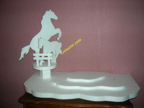 présentoir cheval 90cm/48cm  70,00 E