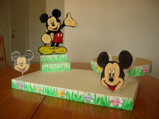 Présentoir Mickey  décoré en glace royale  -
