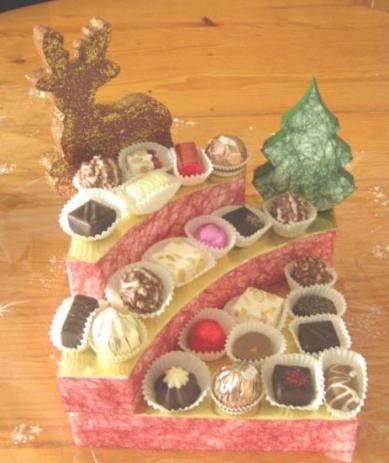 Petit présentoir pour fêtes de fin d'année