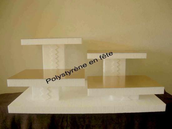 présentoir 4 plateaux 40/30cm   - 90,00 E