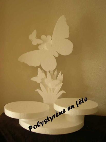 Présentoir papillon 2 plateaux  - 55,00 E