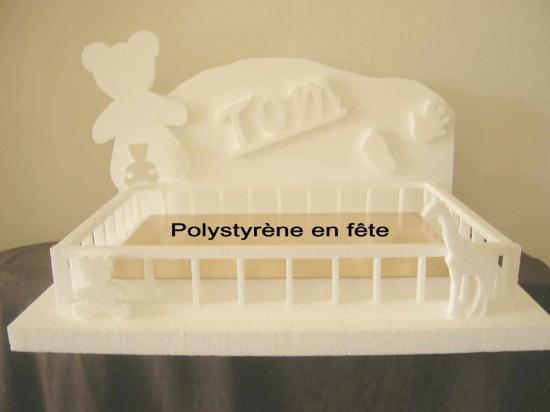 Présentoir ourson + parc + jouets + prénom   - 70,00 E