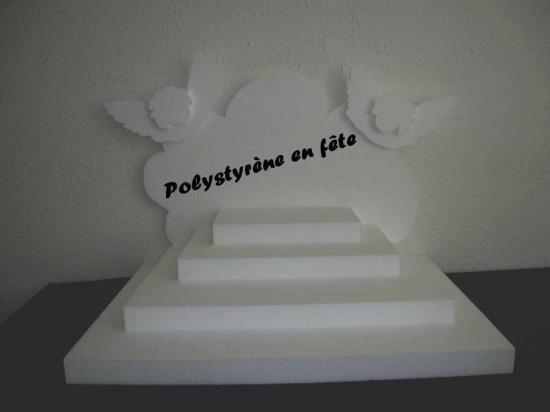 Présentoir pyramide décor  tête et aile d'ange - 75,00 E