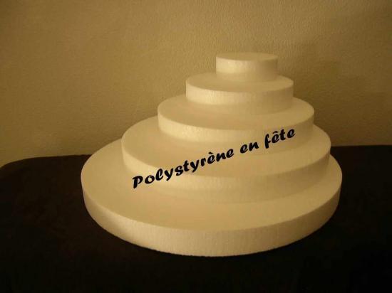 Pyramide ronde 5  plateaux exentrés  - 40,00 E