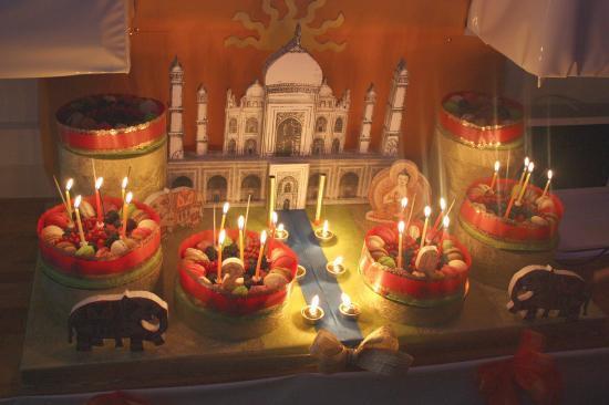 Palais oriental Inde - décoré par Ghislaine + gâteaux