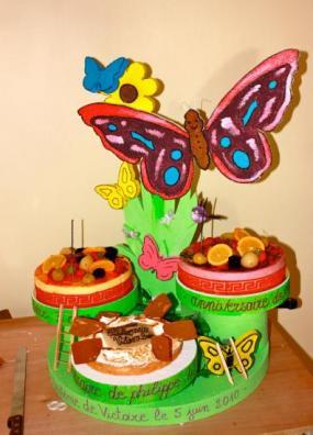 Présentoir papillon 3 plateaux