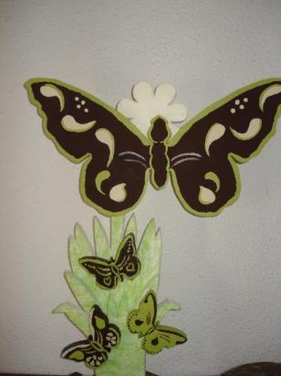 Présentoir papillon ,plateaux en escalier