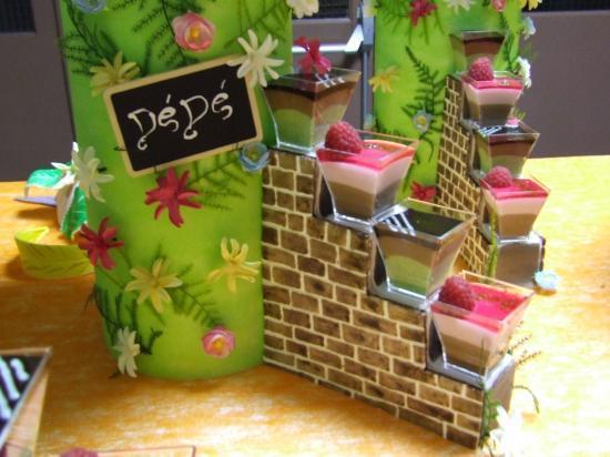 Escaliers décorés et garnis de verrines