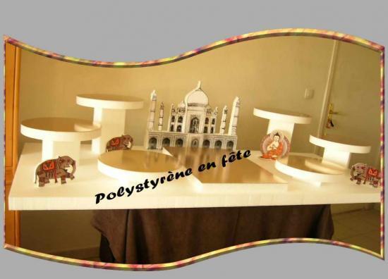 Grand présentoir 160cm/80cm  avec Palais oriental -Taj-Mahal décoré   175,00 E