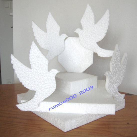 Petit présentoir colombes - 25,00 E