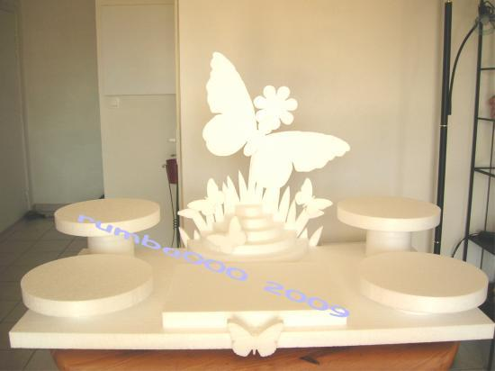 Présentoir papillon110/60cm  - 5 plateaux - 95,00 E