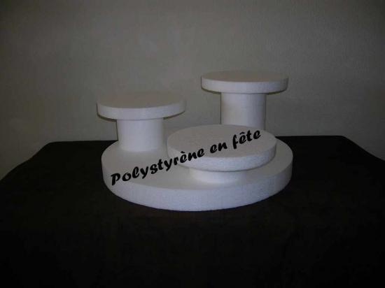 Présentoir 3 plateaux ronds de 24cm -  40,00 E