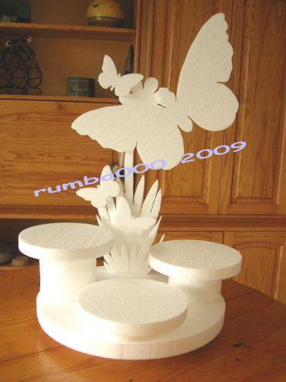 Pr sentoir th me papillon - Decoration de table theme papillon ...