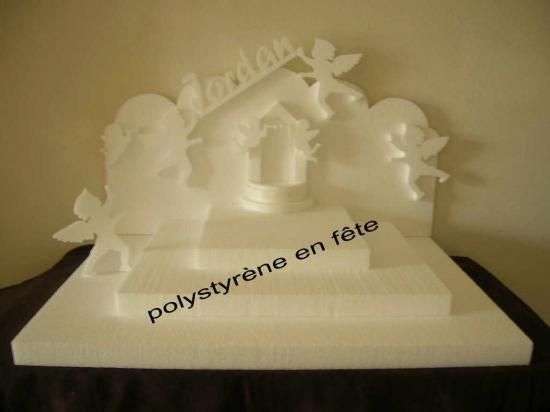 Grand présentoir ange et fontaine  -  70,00 E