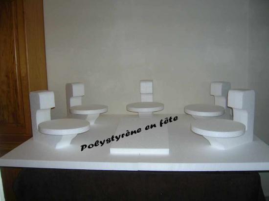 Grand présentoir 6 plateaux -  150,00 E