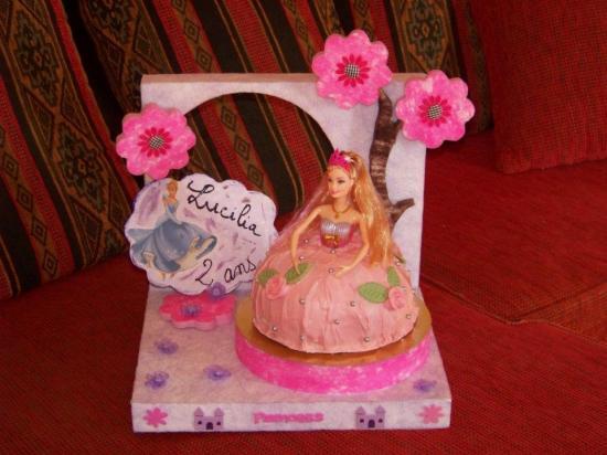 présentoir thème princesse