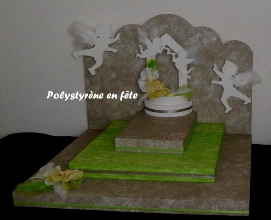 Présentoir ange et fontaine  - 130,00 E