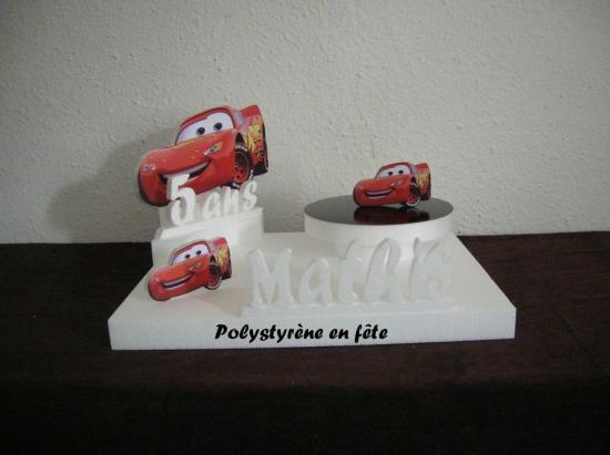 présentoir Cars -1 plateau -age et prénom - 40,00 E