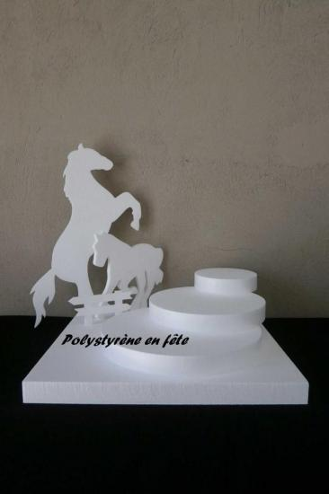 présentoir cheval 3 plateaux en escalier - 50,00 E