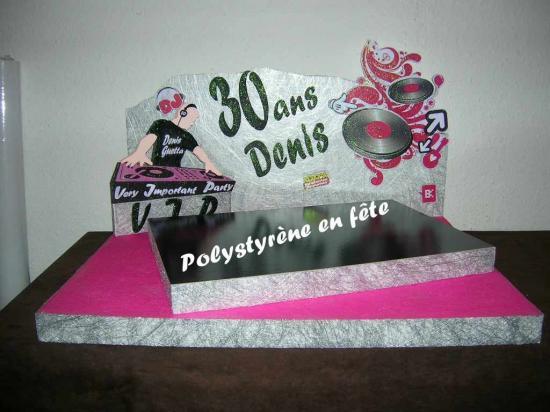 Présentoir DJ décoré  fushia -  140,00 E