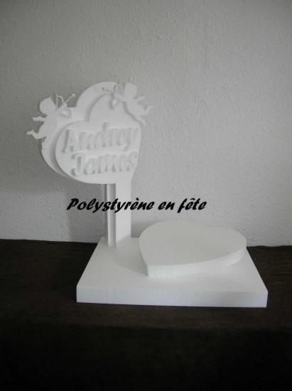 présentoir double coeur et cupidon - 50,00 E