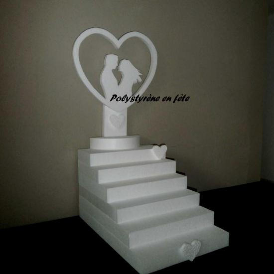 présentoir escalier couple dans coeur - 40,00 E