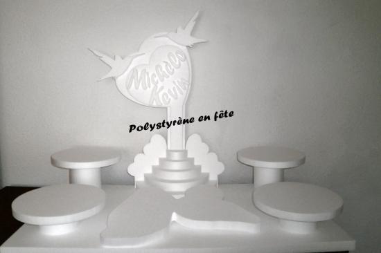 présentoir Guadeloupe coeur et  colibris - 100,00 E