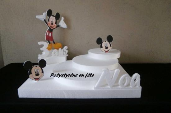 présentoir Mickey 3 plateaux en escalier - 45,00 E