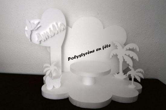présentoir nuage coeur et palmier - 70,00 E