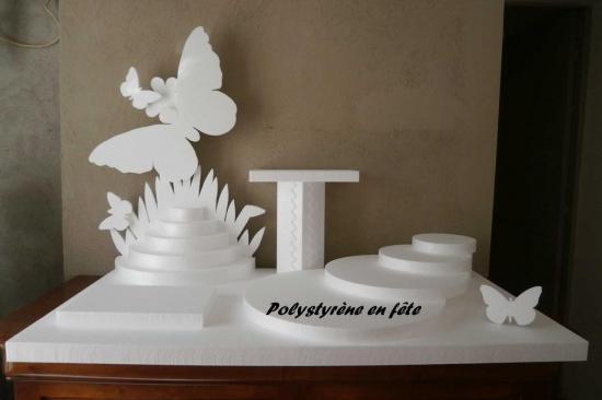 présentoir papillon plateaux en escalier + 2 plateaux 30-20 cm - 100,00 E