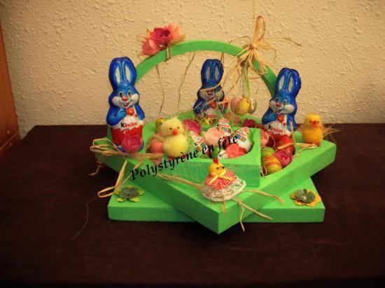 Présentoir Pâques garni