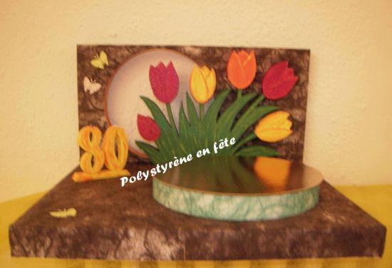 Présentoir tulipe décoré - 60,00 E