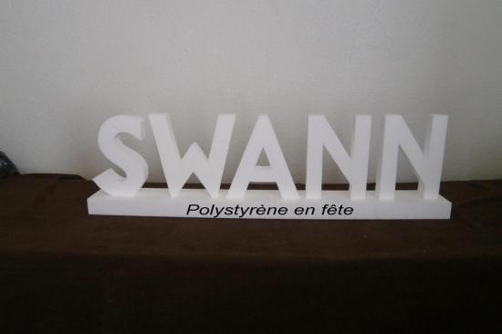SWANN lettre haut 20 cm