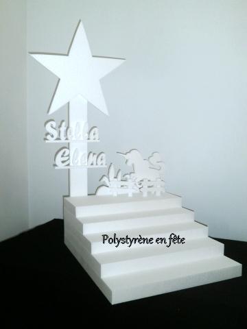 Présentoir escalier étoile et licorne