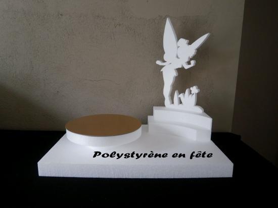 Presentoir fee clochette50 35 cm 1plat de 24cm