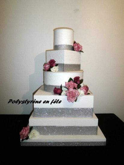 Wedding cake factice decore 81 cm 58 cm